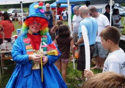 clown at the duck drop