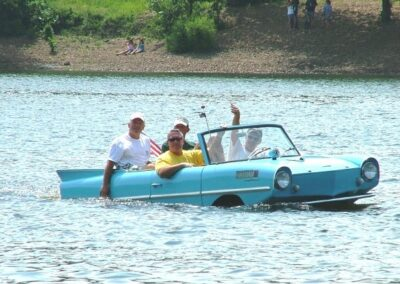 car boat in the water